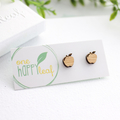 Gift for teacher - apple stud earrings - fruit earrings, teacher earrings