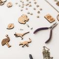 Dinosaur brooch - dinosaur jewelry - Dancing Dinosaur (raptor) fun gift, nerd je