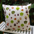 Woodland Wonder Pillow with 100% Recycled Insert