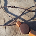 Necklace made from hand tooled timber beads ON SALE!!! 25% off