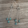 Blue Glass Earrings