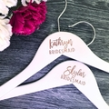 Engraved Wedding Coat Hanger, Personalised Bridesmaid Gift, Wedding Coat Hanger