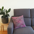 Purple Wool Cushion with 100% Recycled Insert