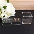 Personalised Clear Ring Box, Glass Look Ring Box, Wedding Keepsake