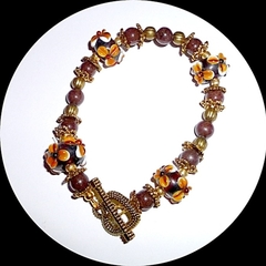 Glass and Jade bracelet. Free postage