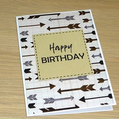 Happy Birthday card - arrows