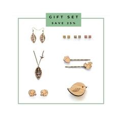 6 piece of jewellery - gift set - gift for girlfriend - eco jewellery set