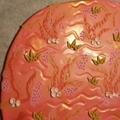 Coral Love Hoop Dangles