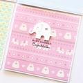 Handmade Baby Shower Card, Baby Girl Card, Newborn Baby Card