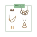 5 piece gift set - gift for girlfriend - wooden jewellery - necklaces and earrin