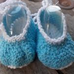 "crochet baby shoes ""dancing feet"" cotton yarns 9.5-10.5cm foot"