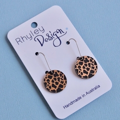 Animal Print Disc Earrings