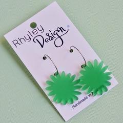Green Bloom Earrings
