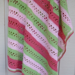 Sweet Tia Spring Blanket crochet PDF pattern download UK/AUS; baby child adult