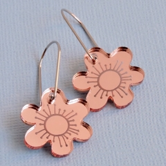 Mirror Rose Bloom Earrings