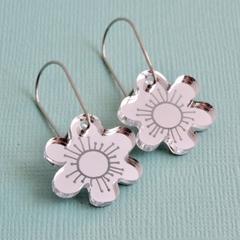 Mirror Silver Bloom Earrings