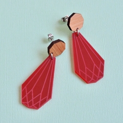 Red Gem Statement Earrings