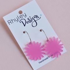 Pink Bloom Earrings
