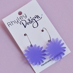 Purple Bloom Earrings