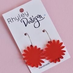 Red Bloom Earrings