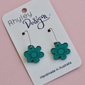 Mirror Teal Bloom Earrings