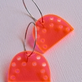 Fluorescent Pink Mountain Earrings