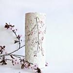 Mosaic Vase  pink flowing flowers
