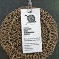 Hemp Crochet Kitchen Dish Scrubber - Handcrocheted - Reusable