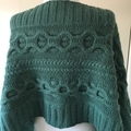 Cable Knit Shawl or Wrap made in Savannah Bendigo Woollen Mills yarn
