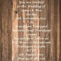 RUSTIC WOOD PANEL WEDDING INVITATIONS