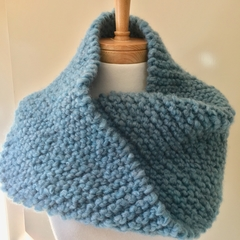 Knitted mobius cowl