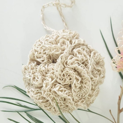 Hemp Crochet Shower Pouf Bath Puff