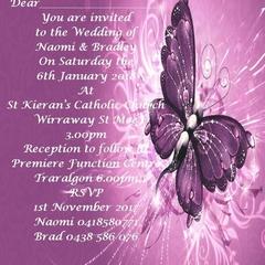 Purple Butterfly Digital Invitations