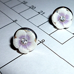 10mm Stud earrings.