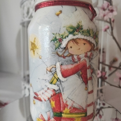 Christmas Elf Themed  Jar