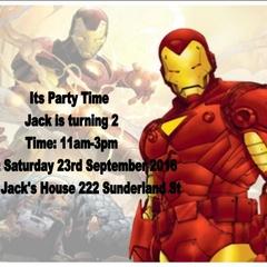 SET OF 12 MARVEL COMICS IRON MAN INVITATIONS