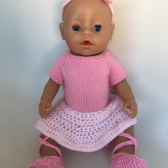 Ballerina Outfit / Dolls Clothes / suits Baby Born or dolls 45cms in height