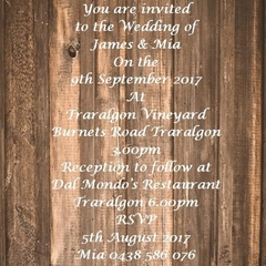 RUSTIC WOOD PANEL WEDDING INVITATIONS