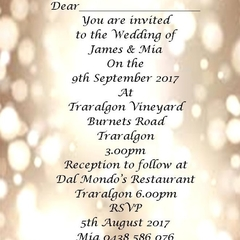 Gold Bokeh print at home Invitations