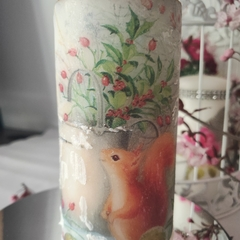 Christmas squirrel candle
