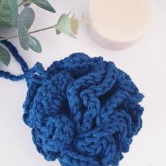 Crochet Shower Shower Pouf - Bath Pouf - Organic Cotton - Handcrocheted