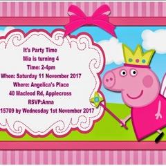 Peppa Pig print at home  Invitation