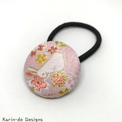 Covered button elastic hair ties Rabbit