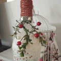 Christmas bottle with string light
