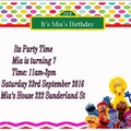 Sesame Street print at home  Invitation