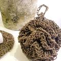 Hemp Crochet Shower Bath Exfoliating Pouf