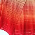 Crochet Carlos wrap made in Scheepjes Whirl cotton colourway strawberry & scream