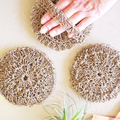 Hemp Crochet Shower Body Exfoliating Scrubber - Soap Saver - Shower Spa Bath