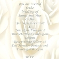Cream Rose Digital Invitations