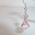 Palest pink Swarovski crystal and Morganite earrings.